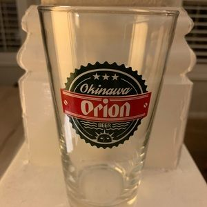 Orion Japanese Beer Glass from Okinawa